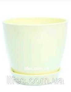 Вазон керамический ВК 13 молочный 1.2л