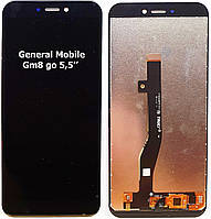 Модуль ( дисплей + тачскрин ) General Mobile GM8go Чорний