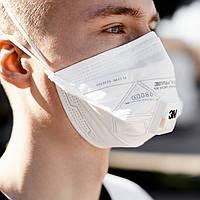 Респиратор маска 3М FFP2 c клапаном белый (защита класса ФФП2 9162)