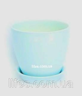 Вазон керамический голубой ВК 13