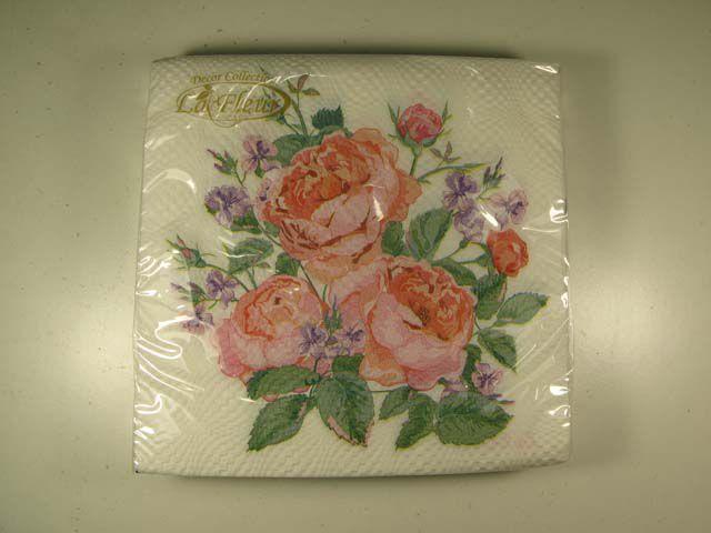 Салфетка (ЗЗхЗЗ, 20шт)  La Fleur  нежная композиция 500 (1 пач)