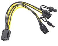 Переходник для видеокарты 6pin ->2 x 8 pin (6+2) PCI-E GPU, фото 1