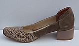 Туфли замшевые женские на каблуке от производителя модель ФТ32, фото 2