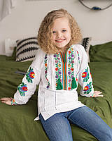 Вишита блуза для дівчинки Веселка