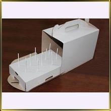 Коробка для кейк-попс біла на 10 шт.
