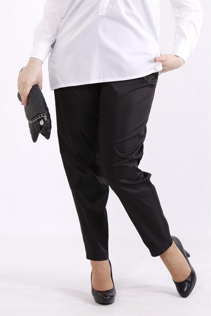 B070-2   Брюки черные офисные женские большого размера