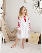 Дитяча сукня вишиванка для дівчинки Птиці, фото 3