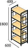 Стеллаж 5 полок Loft Металл-Дизайн. Серия Квадро, фото 2