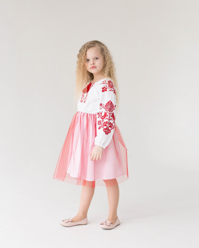 Дитяча сукня вишиванка для дівчинки Птиці