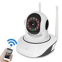 Бездротова IP смарт камера з датчиком руху нічним баченням і панорамним оглядом Wi Fi V380