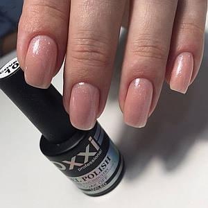 Камуфлирующая база COVER BASE Oxxi Professional №10 (нежно-розовая с серебряным шиммером) 10мл