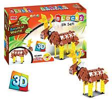 3D детский конструктор развивающий Animal World Олень 287 деталей