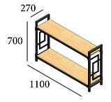 Стеллаж Лонг 2 полки Loft Металл-Дизайн. Серия Квадро, фото 2