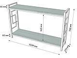 Стеллаж Лонг 2 полки Loft Металл-Дизайн. Серия Квадро, фото 3