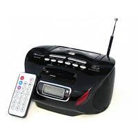 Портативная колонка бумбокс радиоприёмник USB SD пульт Golon RX 186 черный