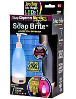 Дозатор диспенсер для жидкого мыла с подсветкой и датчиком движения 7 цветов мыльница Soap Brite 400 мл