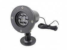 Лазерный проектор стробоскоп белые снежинки для улицы и помещений Outdoor Lawn White Snowflake Light
