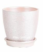 Вазон керамический ВК 13 серебро 1.2л