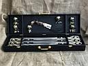 """VIP-Набір шампурів ручної роботи """"Гранд 3"""" ніж +6 чарок, в подарунковому кейсі, фото 2"""