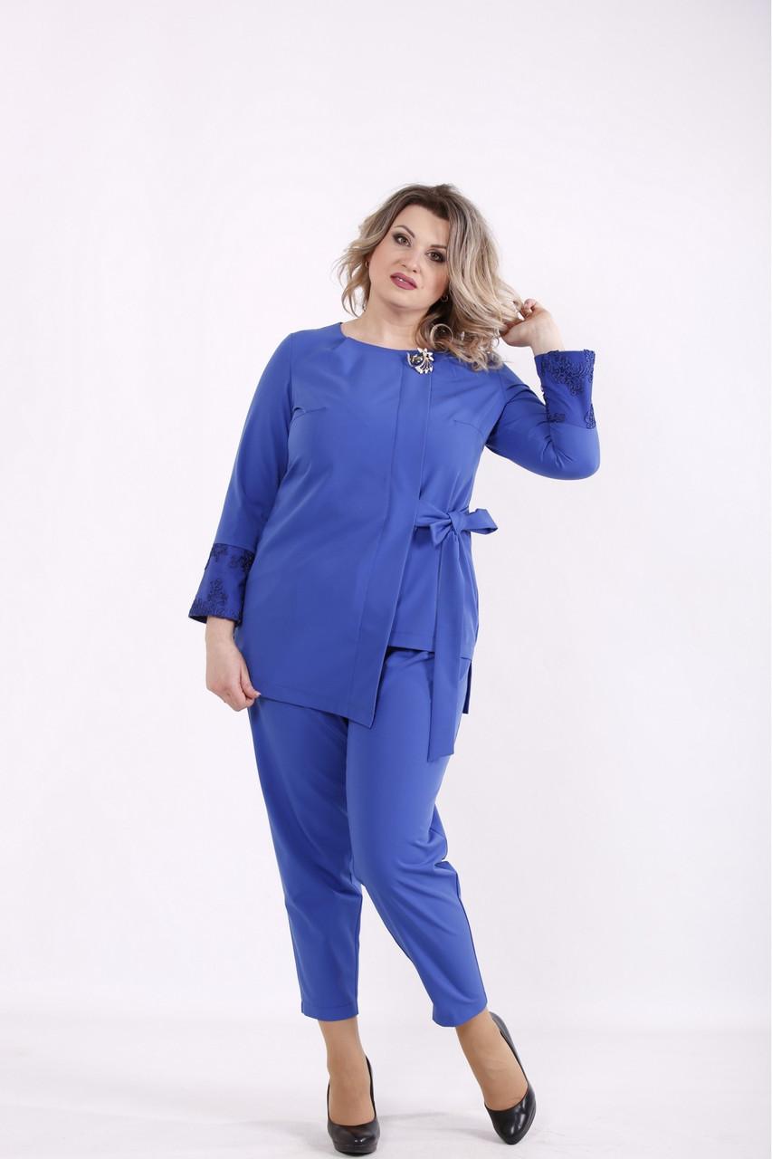 01433-1 | Костюм электрик: блузка и брюки женкий большого размера