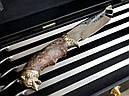 """VIP-Набір шампурів ручної роботи """"Гранд 3"""" ніж +6 чарок, в подарунковому кейсі, фото 6"""