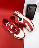 Кеды A 119 -8 (Nike AirForce) (весна/осень, мужские, искусственная кожа, красный), фото 10