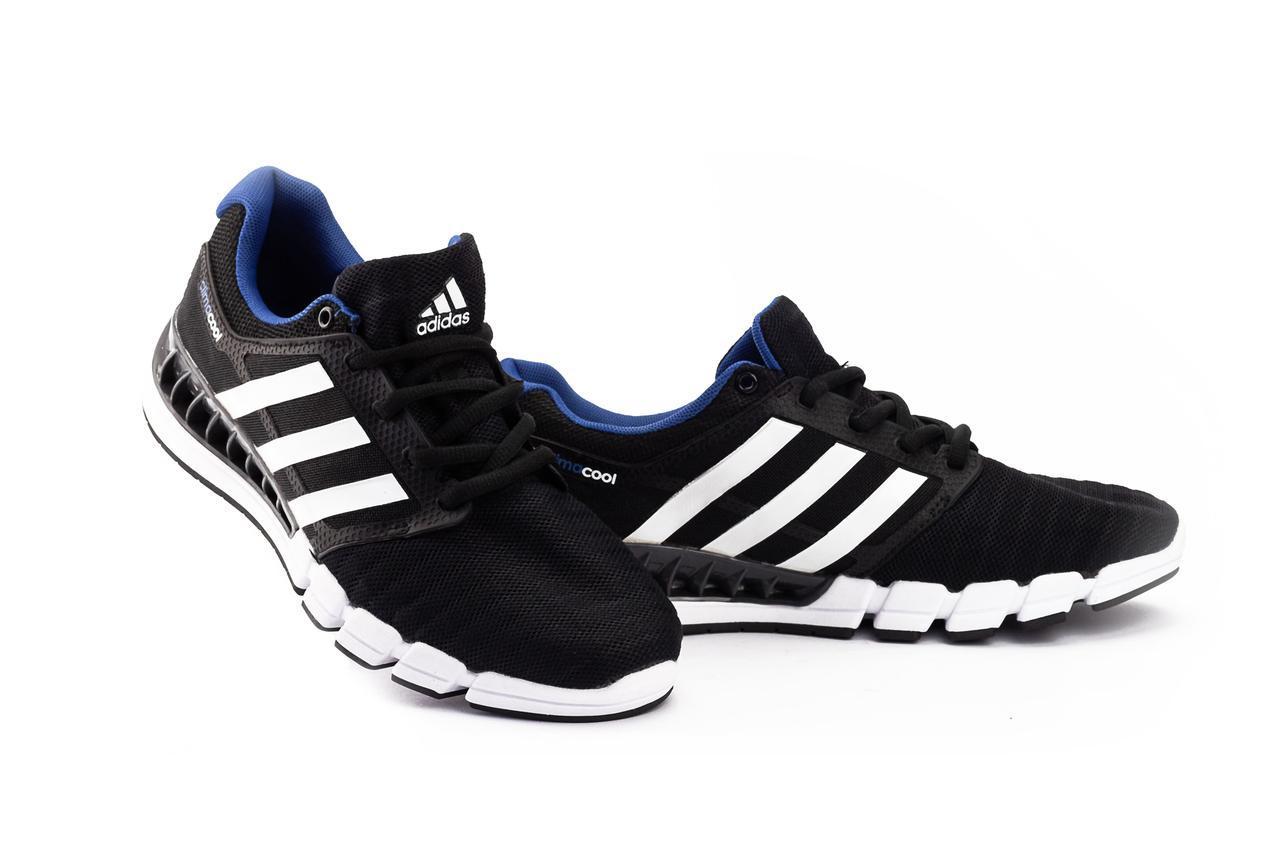 Кроссовки G 5075 -3 (Adidas Climacool) (весна/осень, мужские, текстиль, черный-синий)