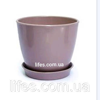 Вазон керамический ВК 13 пудровый 1.2л