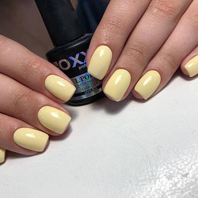Гель лак Oxxi № 191 (бледный желтый, эмаль) 10 мл