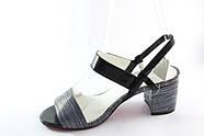 Черные босоножки на среднем каблуке Vensi V321, фото 3