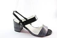 Черные босоножки на среднем каблуке Vensi V321, фото 2