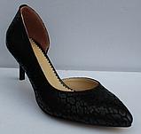 Туфли кожаные женские на шпильке от производителя модель ФТ34, фото 2