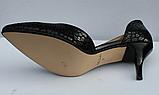 Туфли кожаные женские на шпильке от производителя модель ФТ34, фото 4