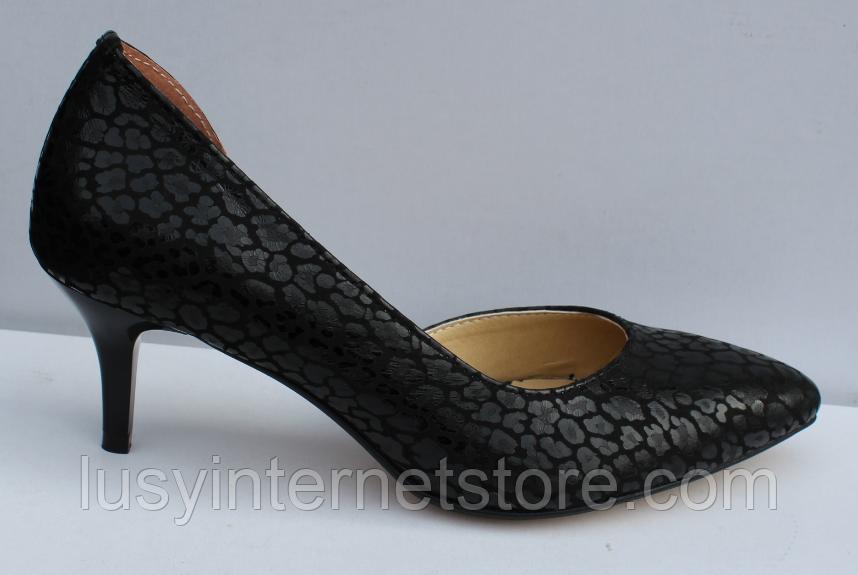 Туфли кожаные женские на шпильке от производителя модель ФТ34