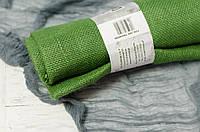Декоративная ткань-мешковина зеленого цвета 90 см