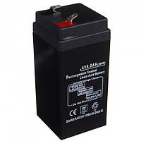 Аккумулятор для торговых весов фонарей светильников 4V 4A UKC