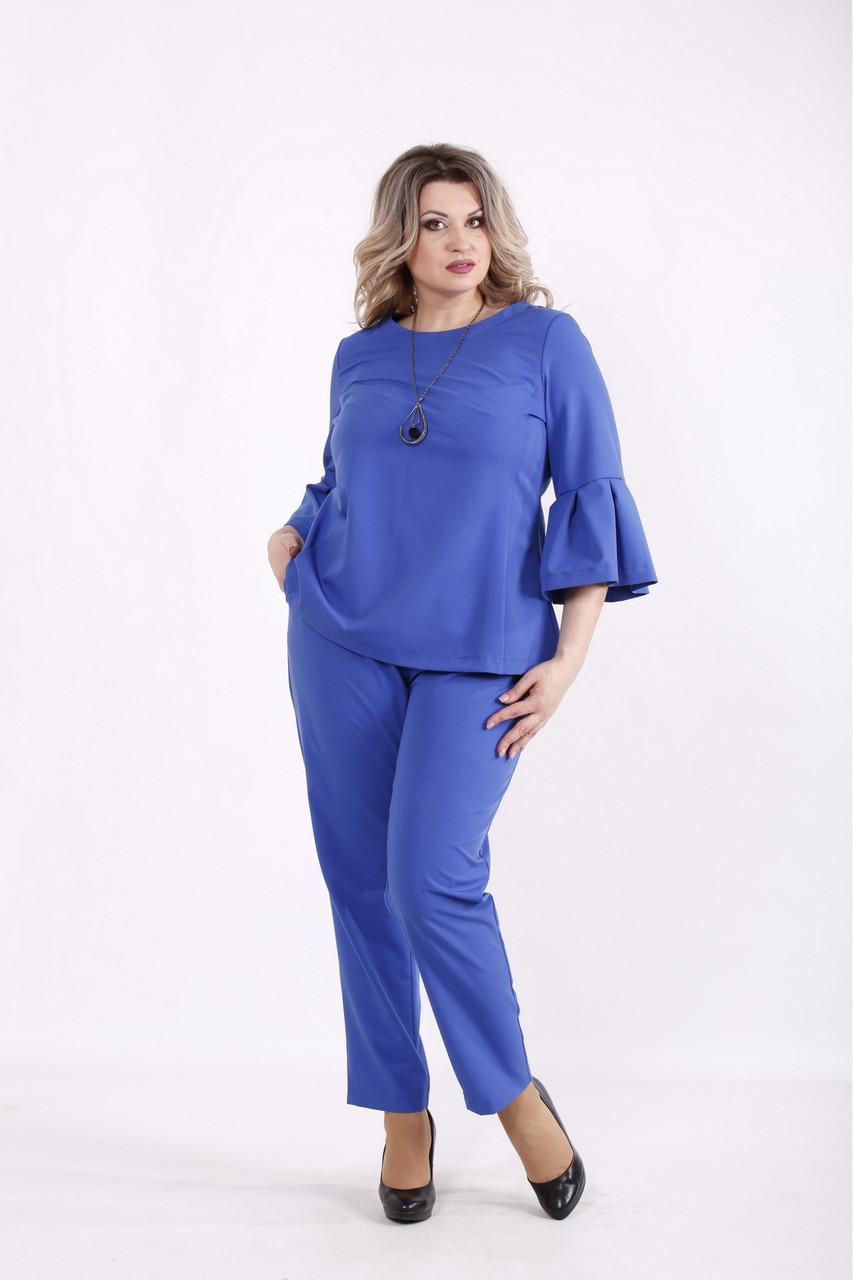 01437-3   Електрик комплект: блуза і брюки женкий великого розміру