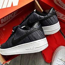 "Мужские кроссовки Nike Air Force 1 Low Ultra Flyknit ""Dark Grey"", фото 2"
