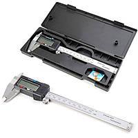 Штангенциркуль металлический электронный с экраном цифровой микрометр в чехле Digital 0-150мм