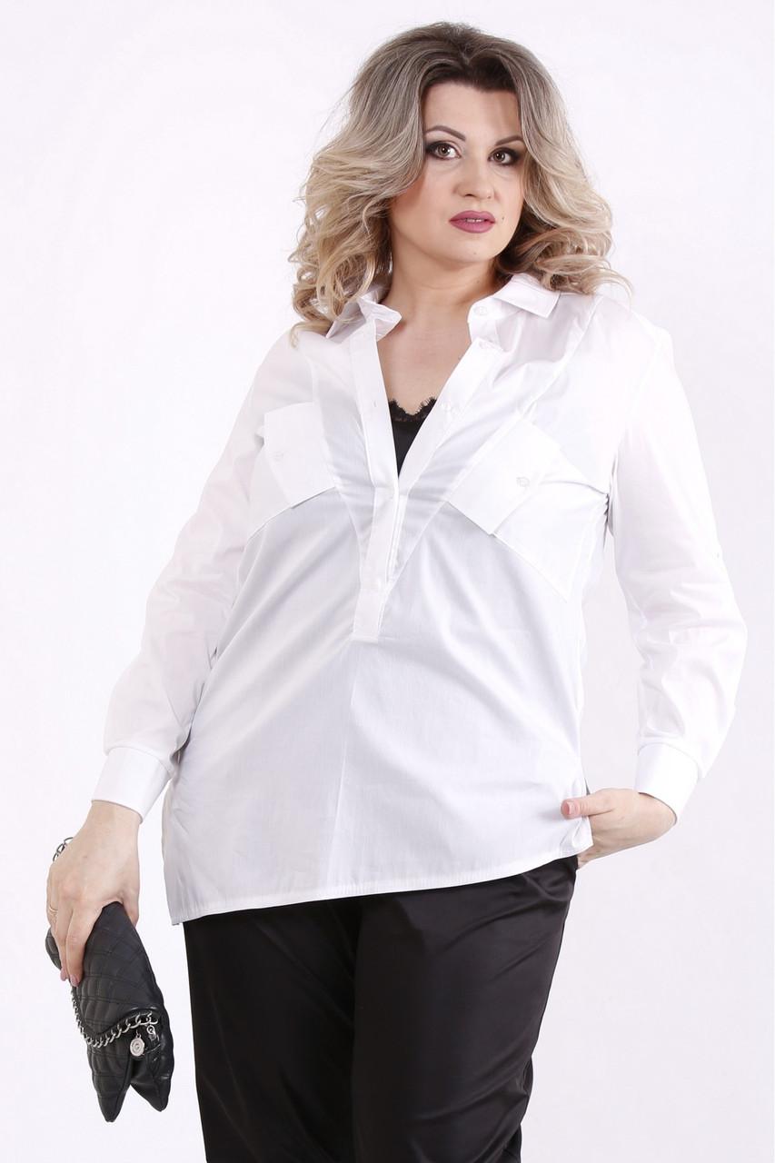 01448-2 | Комплект: черная майка и белая блузка большого размера