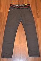 Коттоновые утеплённые штаны на флисе для мальчиков,размеры 4-12,фирма S&D,Венгрия, фото 1