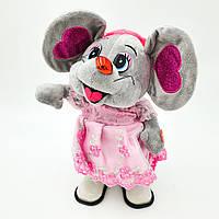 Музыкальная новогодняя мышка поет песни ходит и танцует 25 см