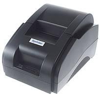 Термопринтер POS чековий принтер 58 мм Xprinter XP58IIH чорний