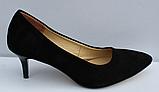 Туфли замшевые женские на шпильке от производителя модель ФТ35, фото 3