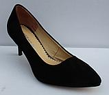Туфли замшевые женские на шпильке от производителя модель ФТ35, фото 2