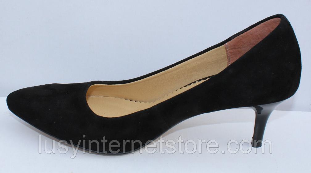 Туфли замшевые женские на шпильке от производителя модель ФТ35