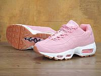 Кросівки жіночі рожевого кольору Nike Air Max 95 Pink (Топ репліка), фото 1