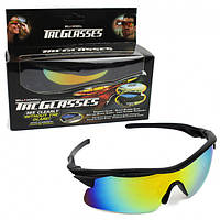 Очки солнцезащитные антибликовые для водителей и спорта Tag Glasses радужные