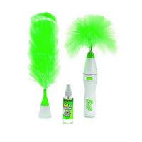 Електрична щітка для прибирання пилу Гоу Дастер 2 Насадки Go Duster зелений