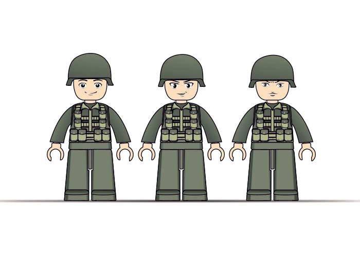 Конструктор SLUBAN M38-B9900 армія, військова машина, фігурки, 191 дет., кор., 28,5-28,5-5,5 см